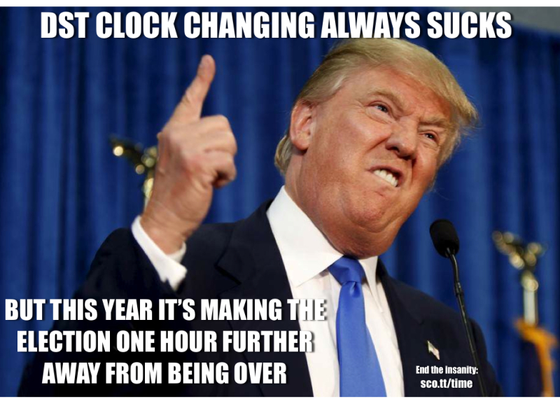 Fall Back Dst Memes Locktheclock Stop Changing Clocks For